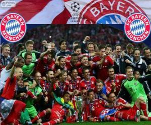 FC Bayern Munich, champion of the UEFA Champions League 2012–13 puzzle