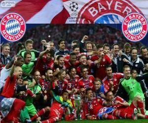 FC Bayern Munich, champion of the UEFA Champions League 2012–13 puzzle