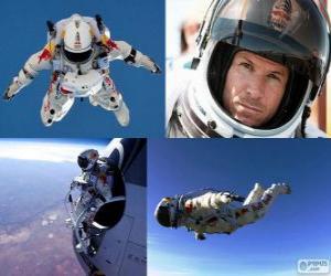 Felix Baumgartner jumping stratosphere puzzle
