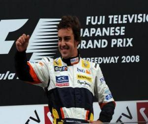 Fernando Alonso in the podium puzzle