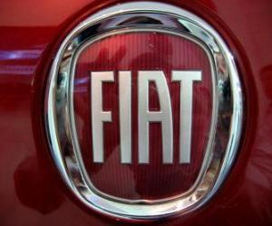 FIAT logo, Italian car brand puzzle