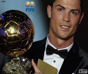 FIFA Ballon d'Or 2014 winner Cristiano Ronaldo puzzle