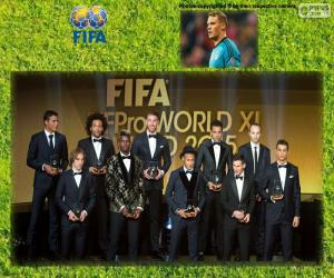 FIFA/FIFPro World XI 2015 puzzle