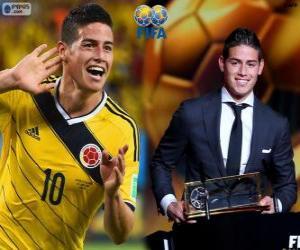 FIFA Puskás Award 2014 for James Rodríguez puzzle