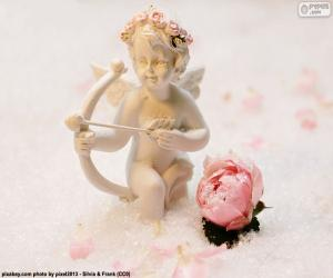 Figure of Cupid with bow puzzle