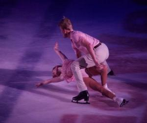 Figure skaters in a skating rink puzzle