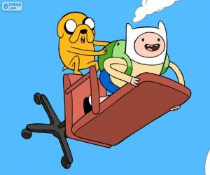 Finn and Jake flying puzzle