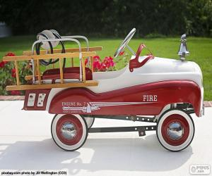 Fire engine for children puzzle