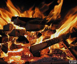 Fire in the fireplace puzzle