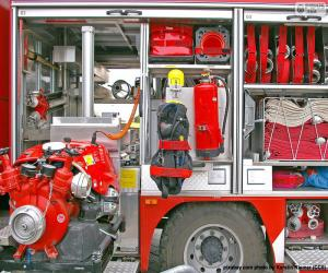 Fire truck equipment puzzle