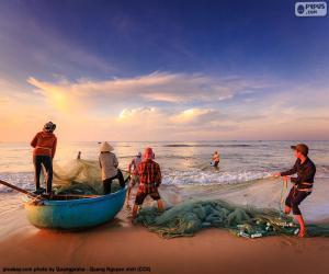 Fishermen in Vietnam puzzle