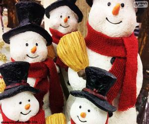 Five snowmen puzzle