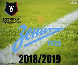 FK Zenit, champion 2018-2019 puzzle
