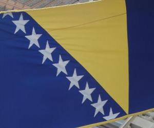 Flag of Bosnia and Herzegovina puzzle
