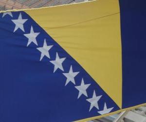 Flag of Bosnia and Herzegovina puzzle