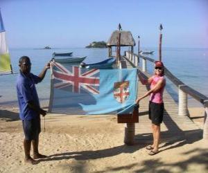 Flag of Fiji or Fiji Islands puzzle