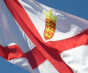 Flag of Jersey puzzle