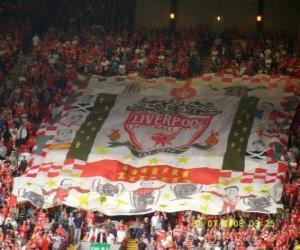 Flag of Liverpool F.C. puzzle