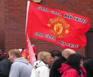 Flag of Manchester United F.C. puzzle