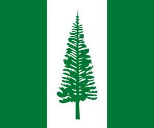Flag of Norfolk Island puzzle