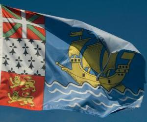 Flag of Saint Pierre and Miquelon puzzle