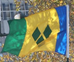Flag of Saint Vincent and the Grenadines puzzle