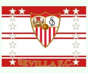 Flag of Sevilla FC puzzle