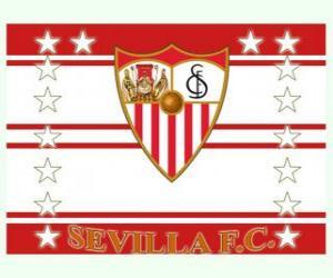 Flag of Sevilla FC puzzle