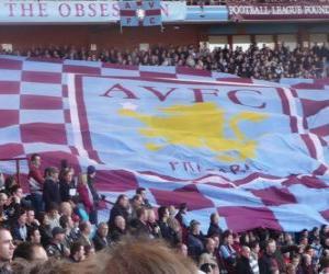 Flag of the Aston Villa FC puzzle