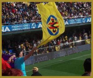 Flag of Villarreal C.F. puzzle