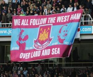 Flag of West Ham United F.C. puzzle