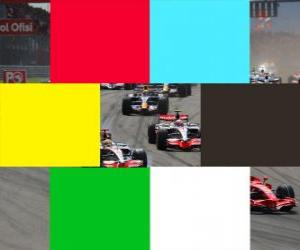 Flags colors F1 puzzle