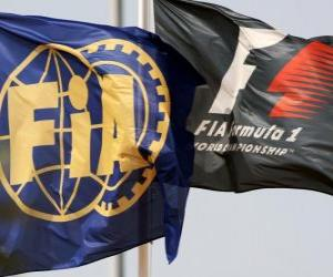 Flags of the International Automobile Federation puzzle
