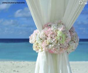 Floral decoration wedding curtains puzzle