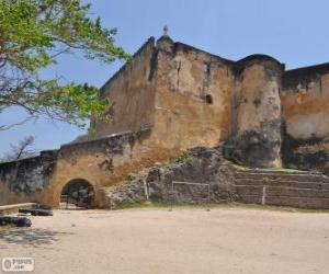 Fort Jesus, Portuguese fort located in Mombasa (Kenya) puzzle