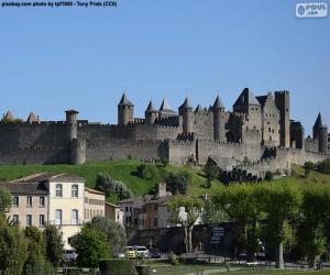 Fortified city of Carcassonne, France puzzle