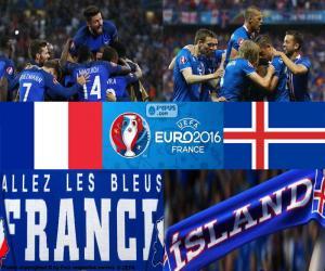 FR-IS, quarter-final Euro 2016 puzzle