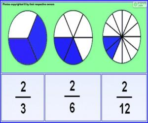 Fractions puzzle