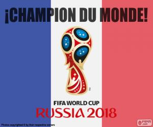 France, champion of the world 2018 puzzle