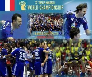 France Gold Medal 2011 World Handball puzzle