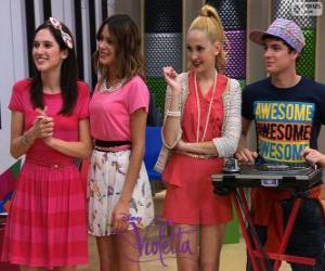 Francesca, Violetta, Ludmila and Maxi, Violetta 2 puzzle