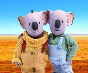 Frank and Buster, the koala brothers puzzle