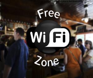 Free wifi zone puzzle