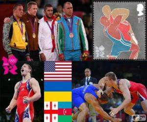 freestyle 96 kg men's London 2012 puzzle
