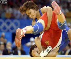 Freestyle wrestling combat puzzle