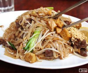 Fried noodles, Thailand puzzle
