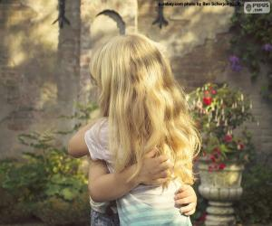 Friends hug puzzle
