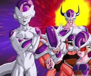 Frieza, a supervillain and a great enemy of Goku can live floating in outer space puzzle