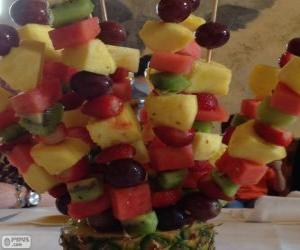 Fruit brochette puzzle
