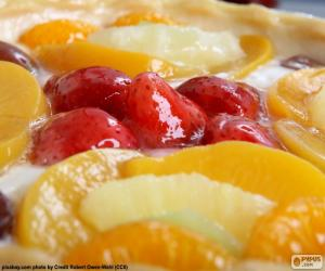 Fruit pastry cake puzzle